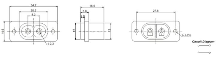 品名:电源插座 品牌 铭伟电子 电源插座技术参数: 额定负荷:DC250V 10A 接触电阻: 0.03 绝缘电阻: 100M 使用温度: -40+70 使用湿度: 85%RH 操 作 力:3-20N 使用寿命: 5,000 次 耐 压:AC1500V(端一端 使用范围: 玩具 小家电 仪表仪器 健身器材 手机配件 医疗器材 电子类等